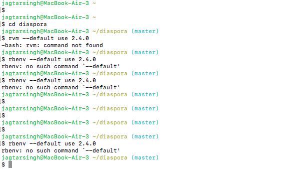 Error while running rake db:create - Developer Support